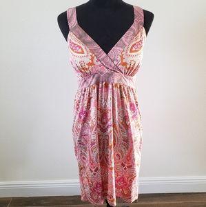 B2G1 NWOT INC Pink Paisley Crossed Back Sundress